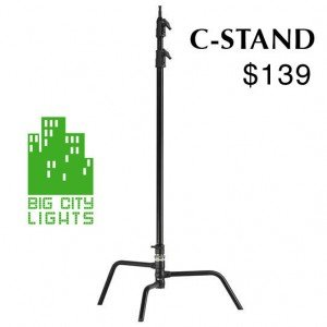 Heavy Duty Light black C-Stand