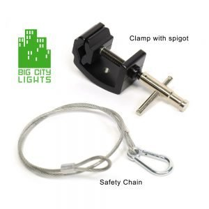 Safety Kit for Lights, Clamp, spigot and Safety Chain