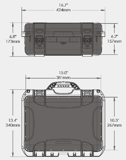 920 Black Hard Case for photo and video