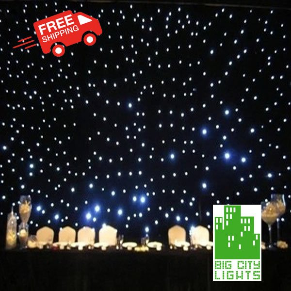 LED star curtain backdrop Canada Toronto