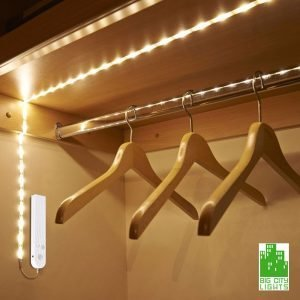Rope string light warm white closet motion activated Canada Toronto
