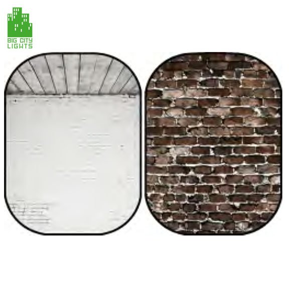 collapsable background bricks studio white photography Canada photo foldable