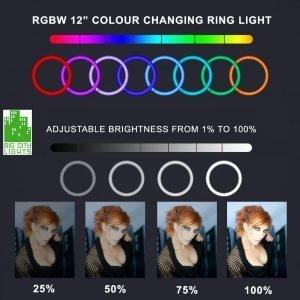 rgbw ring light Toronto Canada puluz