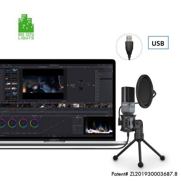 USB microphone pop filter Canada Toronto youtube warm audio