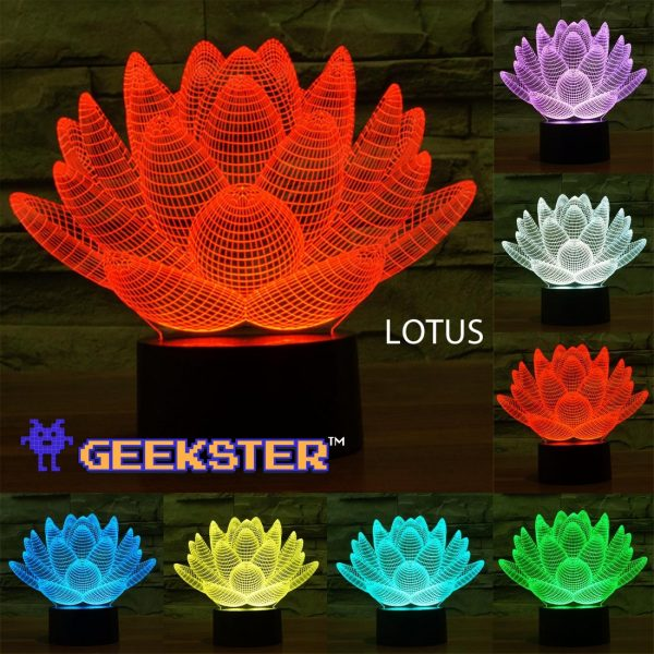 3D illusion lotus Light multi colour color light lamp Canada Toronto Scarborough