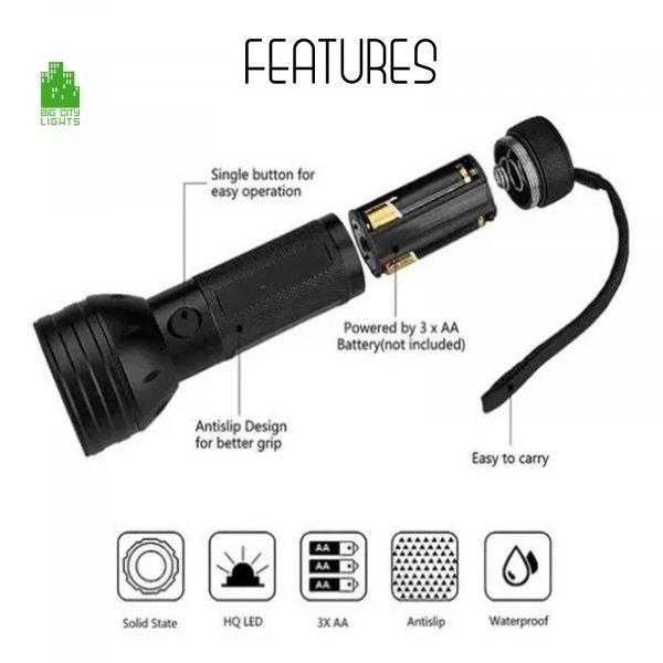 LED Flashlight blacklight black light ultraviolet Canada UV