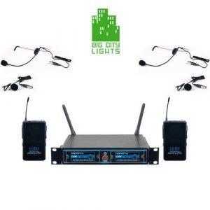 VocoPro UDH-Dual-B UHF Digital Hybrid Wireless Microphone System Canada Mic Headset